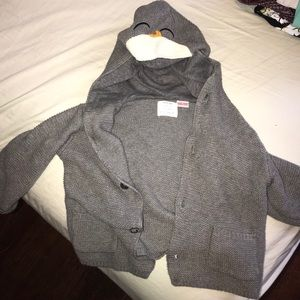 Zara baby knit wear hooded cardigan